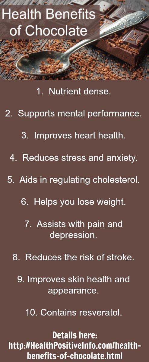 Six Health Benefits of Dark Chocolate