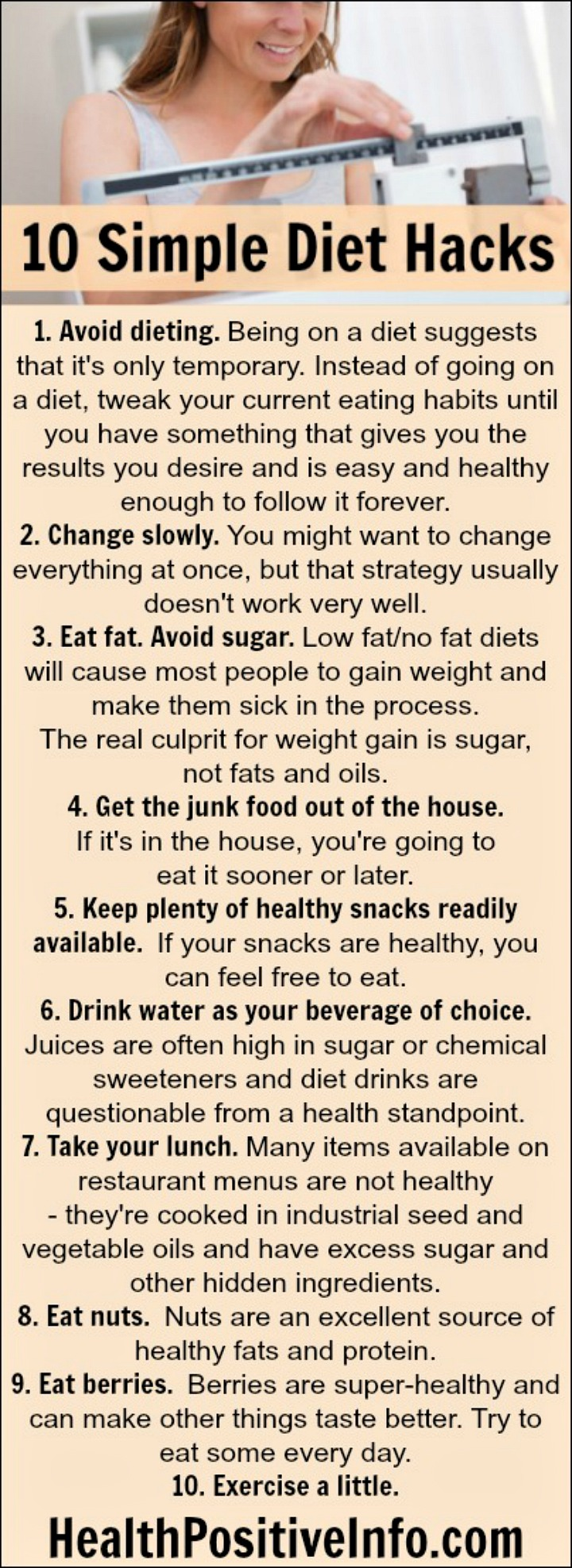 10 Simple Diet Hacks to Lose Weight - https://healthpositiveinfo.com/10-simple-diet-hacks.html