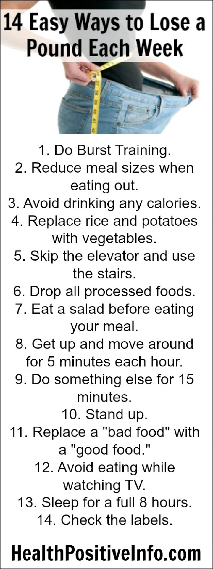 14 Easy Ways to Lose a Pound Each Week - https://healthpositiveinfo.com/14-easy-ways-to-lose-a-pound-each-week.html