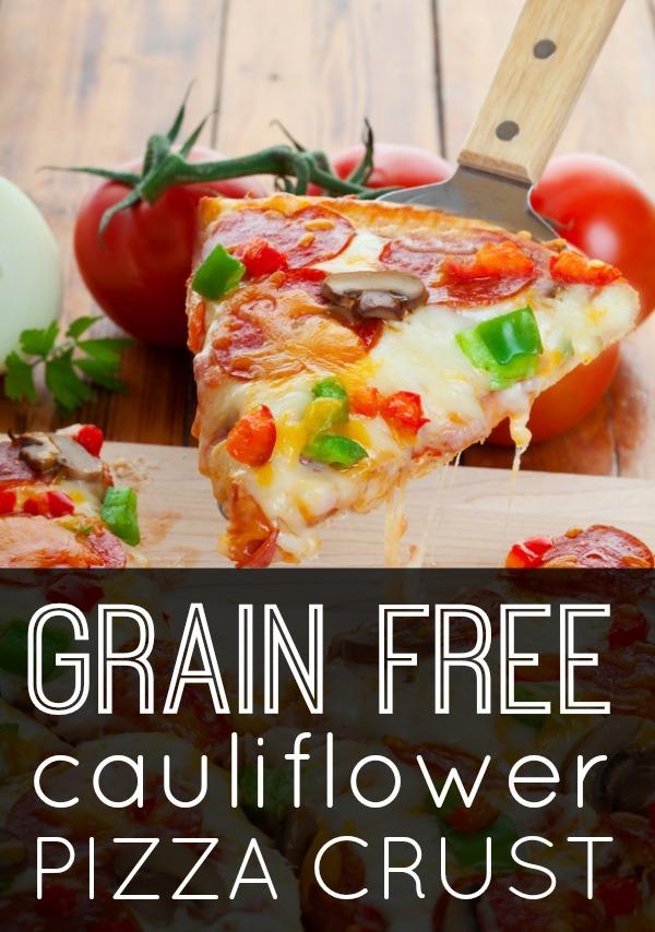 Grain Free Cauliflower Pizza Crust ~ https://healthpositiveinfo.com/grain-free-cauliflower-pizza-crust.html