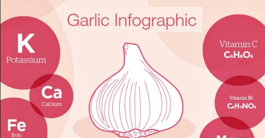 Garlic Information (Infographic) - https://healthpositiveinfo.com/garlic-infographic.html